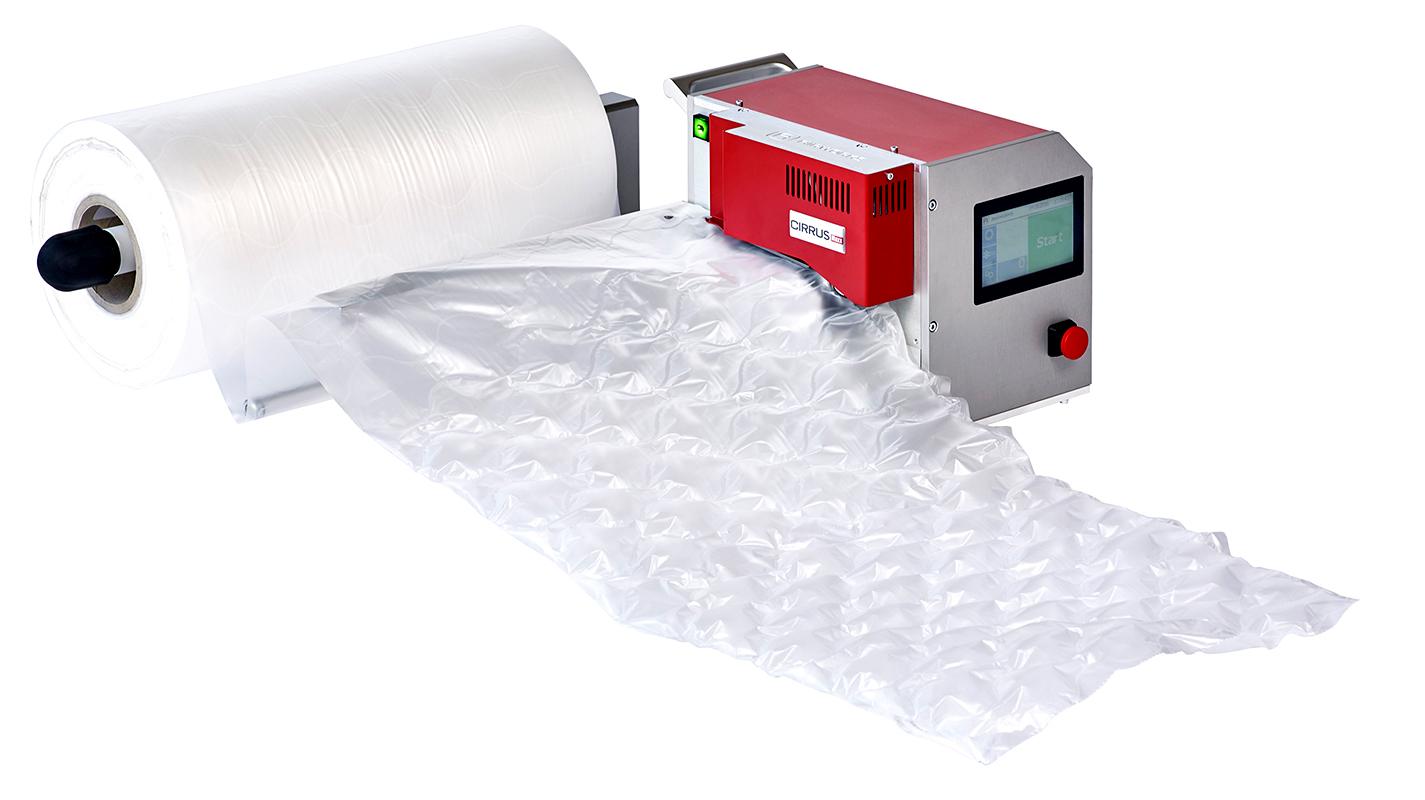 Luftpolstermaschinen vonAirworks. Für jede Verpackungssituation die richtige Kombination.
