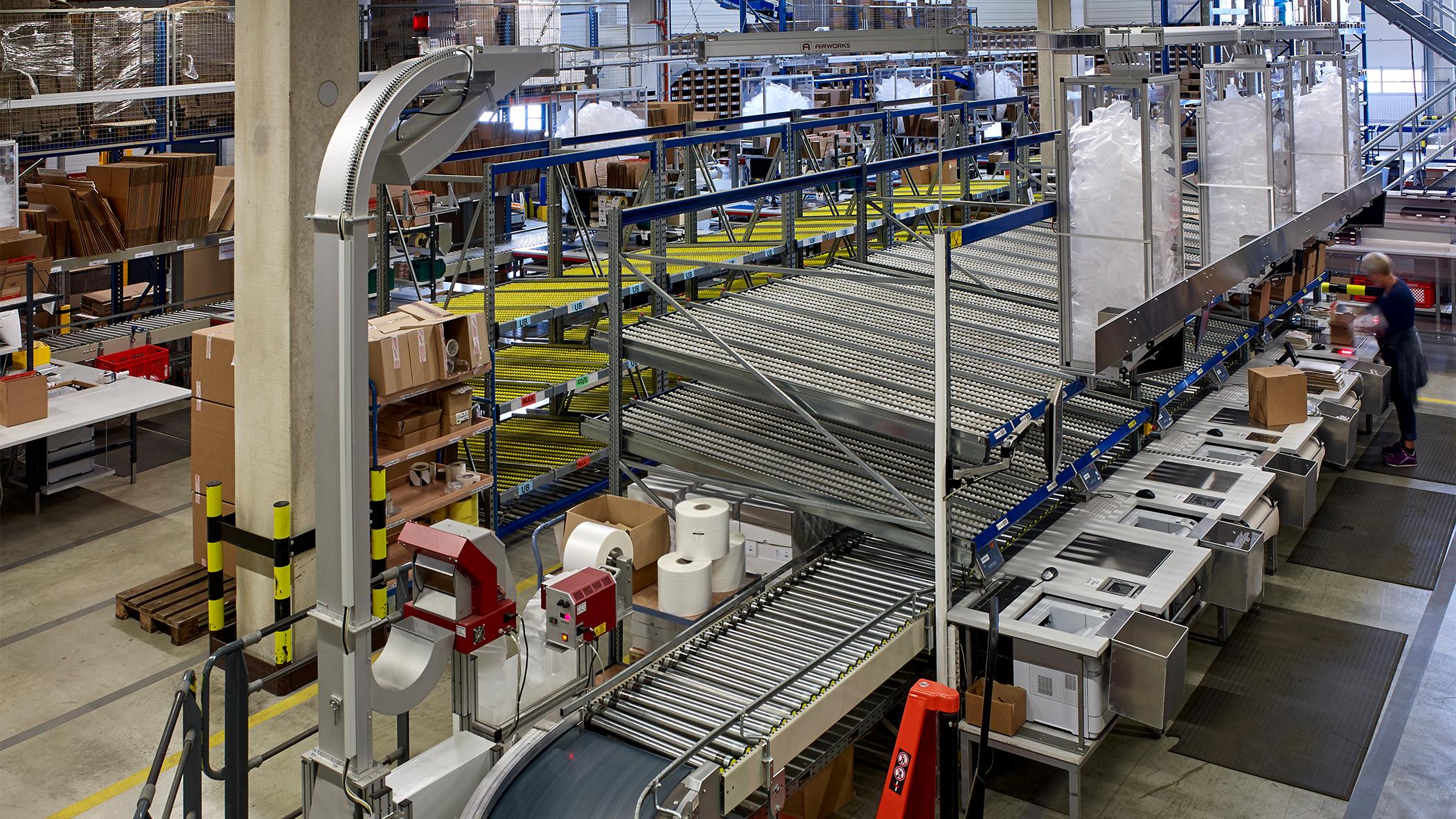 Airworks Packstation für Luftpolsterverpackung - Luftpolsterfolien und Maschinen